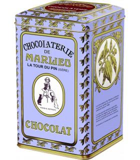 Chocolat à fondre en galets (boîte métal)