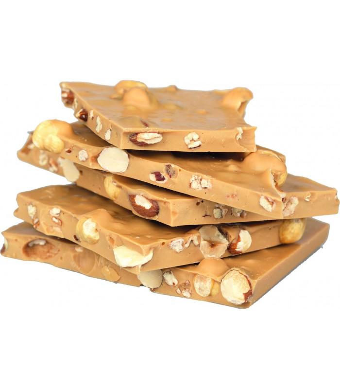 Casse au chocolat caramel doré