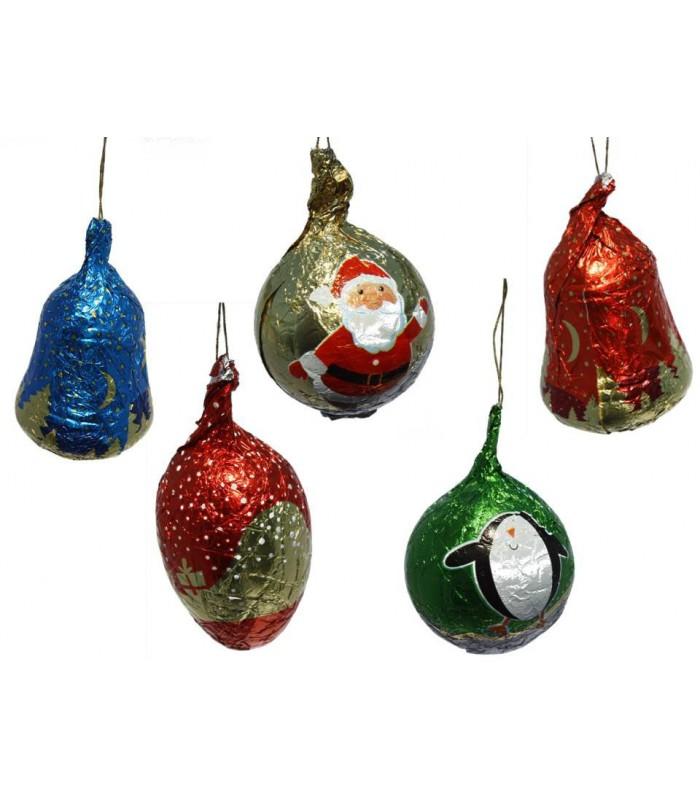 Décors sapin de Noël en chocolat