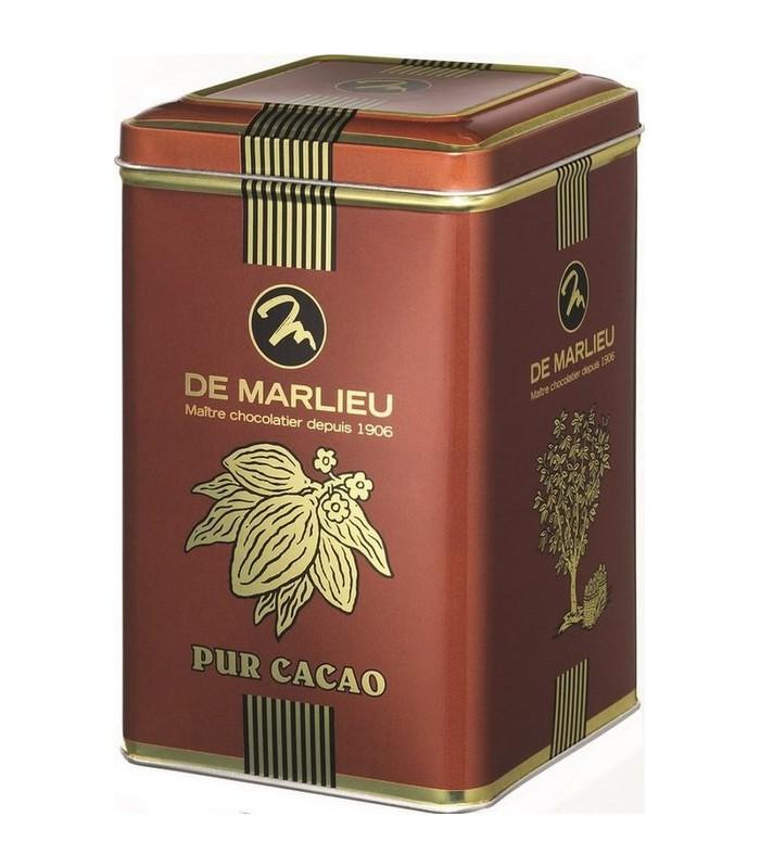 Poudre cacao 100% Noir Intense (boîte métal)